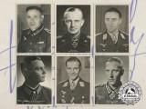 Six Second War German Knight's Cross Recipient & Soldier Postcards