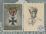 Two Second War Iron Cross German Postcards