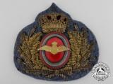 A Second War Danish Air Force Cap Badge c.1939