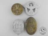 Four Third Reich Period Badges & Tinnes