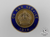 A First War On War Service 1914 Badge