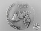 A 1936 Fränken HJ Camping Badge