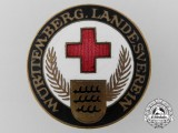 A Würtemberg Landesverein German Red Cross Badge by W. Mayer & Fr. W. Wilhelm