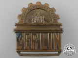 A Four-Year Plan Badge for Berlin