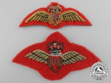 Two Pilot's Mess Dress Wings for Those Seconded to the Artillery
