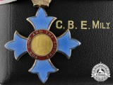 A Most Excellent Order of the British Empire; Military Division (CBE) with Case