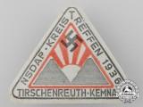 A 1936 NSDAP Tirschenreuth - Kemnath Group Meet Badge