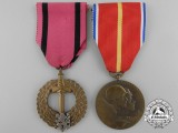 Two Second War Czechoslovakian Medals