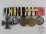 A First War & Colonial Service German Medal Bar