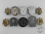A Lot of 10 Second War Period German Badges