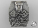 A 1935 Lower Bavaria District Gymnastics Festival Badge
