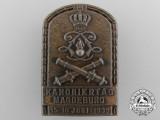 """A 1935 Magdeburg """"Day of the Artilleryman"""" Badge"""