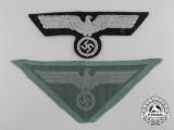 Two German Breast Eagle Insignia