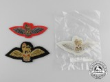 Three QEII Royal Air Force (RAF) Glider Regiment Pilots Wings Badges