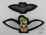 Two QEII Royal Air Force (RAF) Glider Regiment Pilots Wings Badges