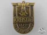 A 1937 Altenkirchen District Meet Badge