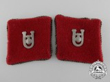 A Set of Second War Croatian Ustaša Officer Collar Tabs