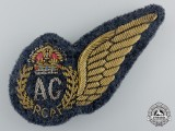 A Second War Royal Canadian Air Force Bullion (RCAF) Air Gunner (AG) Wing