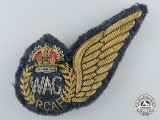 A Second War Royal Canadian Air Force Bullion (RCAF) Wireless/Air Gunner (WAG) Wing
