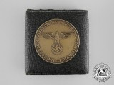 """A """"Our thanks for German Labour in Elsass"""" Table Medal with Case"""