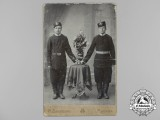 An Early Russian Studio Photo of two Imperial Soldiers