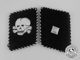 A Set of Waffen-SS Totenkopfverband Unterscharführer Rank Collar Tabs; RZM Tagged