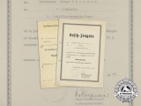 Two 1936 Kriegsmarine Documents for Marksmanship and Long Service
