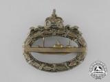 A First War German Imperial Submarine (U-Boat) Badge by Paul Meybauer, Berlin