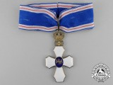 An Icelandic Order of the Falcon; Commander's Cross with Royal Crown (1921-1944)