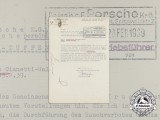 A 1939 Letter to Dr. Porsche Regarding VW Factory Policies
