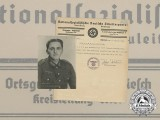 A 1942 Regional NSDAP Certificate with Photo of Recipient