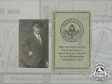A Voluntary Labour Service (RAD precursor) ID Card to Walter Weißenborn