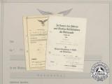 "Two Documents to Luftwaffe ""Legion Condor"" Staff Sergeant Erich Kniep"
