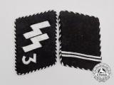 "A Set of Waffen-SS ""Der Führer"" Regiment Sturmmann Rank Collar Tabs; RZM Tagged"