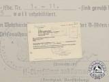 A Rehabilitation Letter signed by SS-Oberführer Dirlewanger; 36th Waffen Grenadier Division
