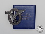 A Fine Early Quality Manufacture Cased Luftwaffe Pilot's Badge by Wilhelm Deumer