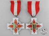 Two German Republic Twenty-Five Years' Fire Service Crosses