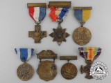 Seven American First War Service Medals