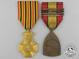 Two Belgian Orders and Medals