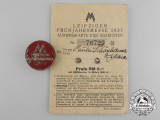 A 1937 Leipzig Spring Trade Fair ID ticket & badge