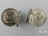 A Second War Kriegsmarine Cufflinks Set in Original Box of Issue