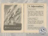 "A V1 Rocket ""Shadow over England"" Propaganda Campaign Leaflet 1944"