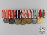 A First War Austro-Hungarian Seven Piece Medal Bar