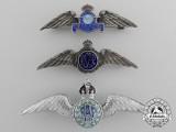 Three Second War Royal Air Force (RAF & RCAF) Sweetheart Pins