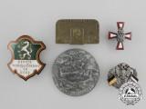 A Lot of Five First War Austrian Badges