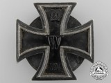 A First War Iron Cross First Class 1914; Screwback & 800 Silver
