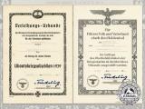 Two Submariner's Posthumous Award Documents to Gustav Adolf Schildt