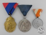 Three European Fire Fighting Medals & Awards