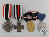 A Lot of Four German Awards and Medals