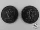 Two 1916 German First War Gold Donation Coins by Hermann Haseaus